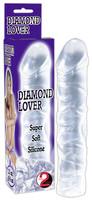 Vibrátor, dildó, műpénisz / Dildók (nem rezgő) / Gyémánt szerető - szilikon, áttetsző