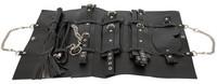 Bondage, Kötözés, S/M / Kötözés / Bad Kitty - műbőr kötöző szett táskában (11 részes) - fekete