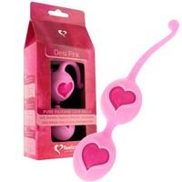 Vibrátor, dildó, műpénisz / Kéjgolyók, tojás vibrátorok / FEELZTOYS Desi - szíves gésagolyó duó (pink)