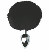 Popsi szex, anál szex / Dildó, vibrátor, butt-plug / Sportsheets Sincerely - fém anál dildó nyuszifarokkal (ezüst-fekete)