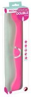 Vibrátor, dildó, műpénisz / Vibrátorok (rezgő vibrátor) / DOUBLE - akkus, szilikon dupla vibrátor (pink)