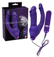 Vibrátor, dildó, műpénisz / Vaginális és anális vibrátor / Double Pleasure - análkaros vibrátor (lila)